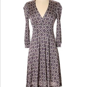 Banana Republic ALine V-neck 3/4 Sleeve Dress